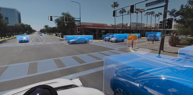 How Waymo's self-driving cars detect ongoing subjects.
