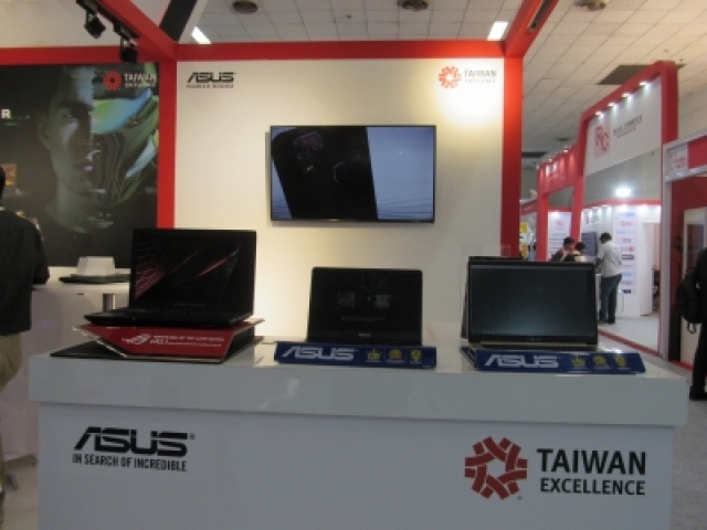 New Delhi: Asus laptops on display at Taiwan Excellence pavilion during Convergence 2018 in New Delhi on March 7, 2018. (Photo: IANS)