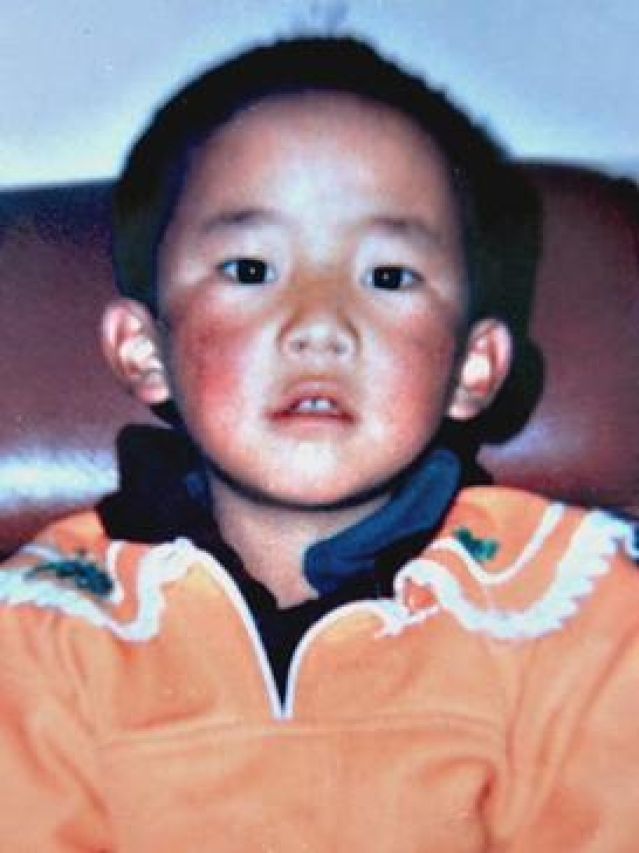 Gedhun Choekyi Nyima before he was kidnapped