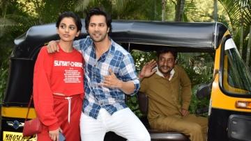Varun Dhawan along with his<i>October </i>co-star Banita Sandhu.