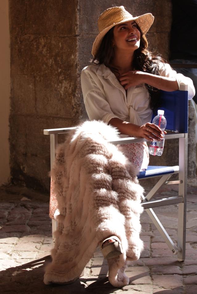 Priyanka Chopra on the sets of <i>Quantico.</i>