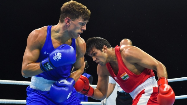 Vikas Krishan and Satish Kumar were among the five Indian boxers who entered the CWG 2018 Boxing finals.