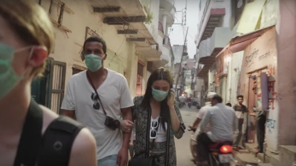 YouTuber Shay Mitchell in her vlog on India.