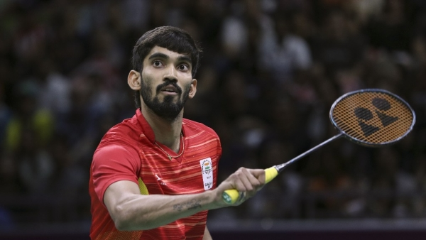 Kidambi Srikanth in action against Le Chong Wei in Gold Coast on Sunday.