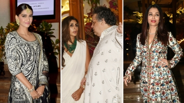 Sonam Kapoor, Shweta Bachchan and Aishwarya Rai attend Sandeep Khosla's niece's wedding.