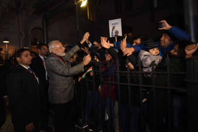PM Modi meets Indian diaspora in Stockholm, Sweden