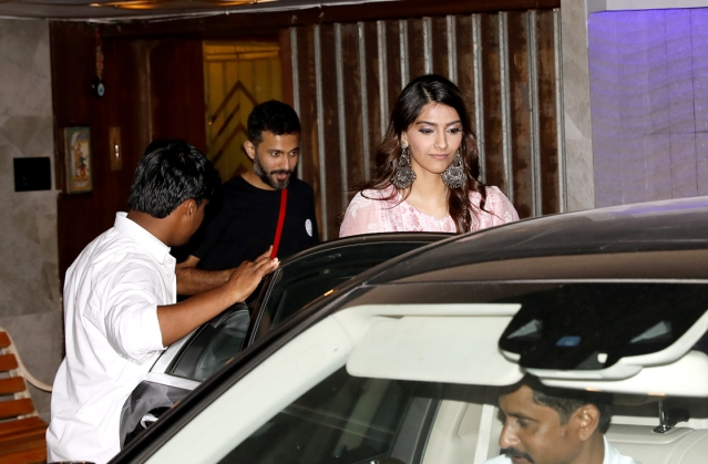 Sonam Kapoor seen here with Anand Ahuja.
