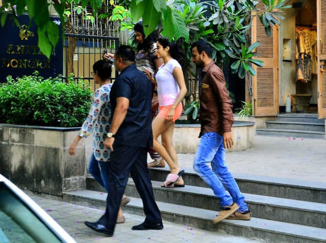 Janhvi Kapoor spotted outside a store in Bandra.