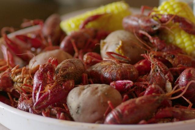 Crawfish prepared the New Orleans way.