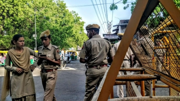 Security outside the Jodhpur central jail premises ahead of the verdict.