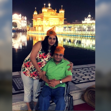 The holy place which must have been accessible for all is sadly inaccessible for devotees with disabilities.