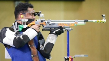 Indian shooter Ravi Kumar in competition during the 21st Commonwealth Games in Gold Coast last year.