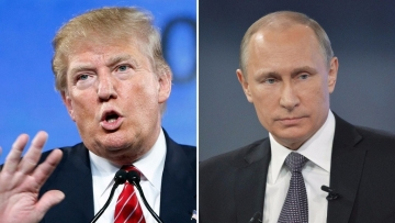 President Donald Trump (left) and Russian President Vladimir Putin (right).