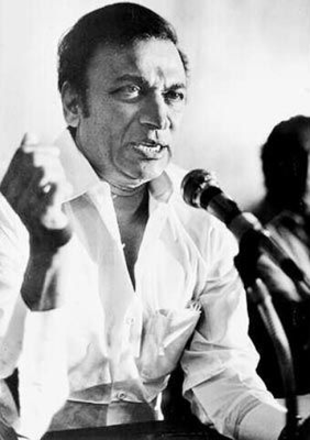 File photo of Rajkumar addressing a meeting.