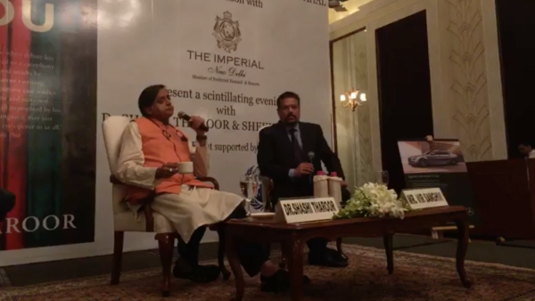Congress MP Shashi Tharoor in conversation with Vir Sanghvi
