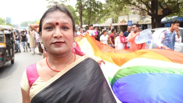 A participant of Jharkhand's first LGBTQ Pride Parade