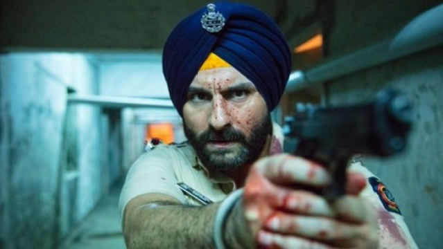 Saif Ali Khan in a still from <i>Sacred Games</i>.