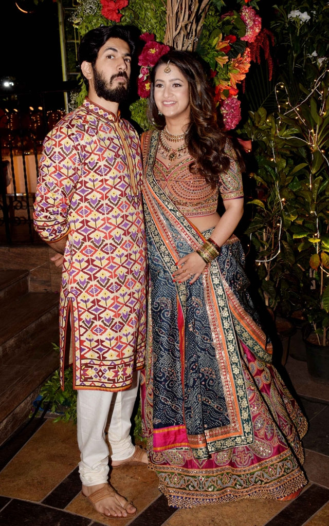 The couple: Saudamini Mattu and Siddharth pose for the shutterbugs.