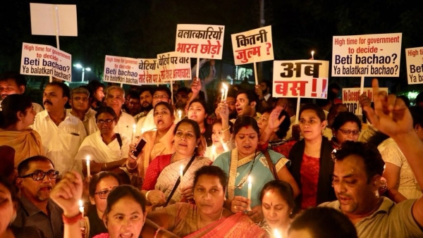 Hundreds joined in the protest march led by Congress President Rahul Gandhi.