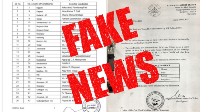Fake documents have been emerging in Karnataka ahead of elections.