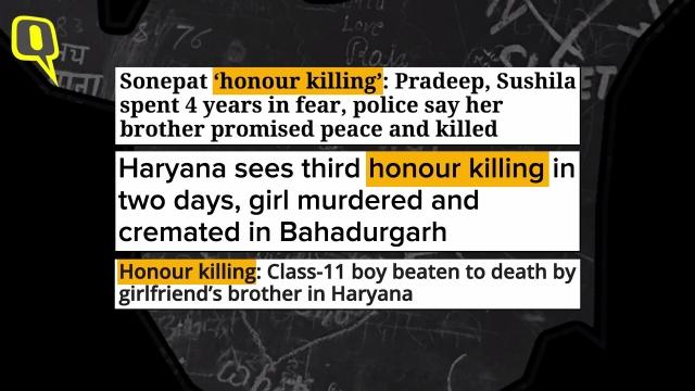 Killing in the name of 'honour'.