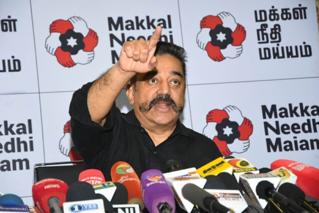 Actor turned politician Kamal Haasan