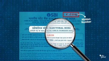 <b>The Quint</b>'s investigation reveals that electoral bonds have hidden numbers printed on them.