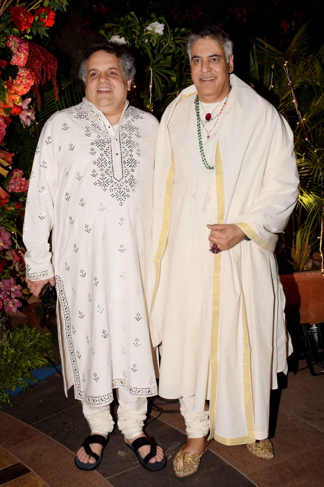 Sandeep Khosla and Abu Jani at the former's niece's wedding.