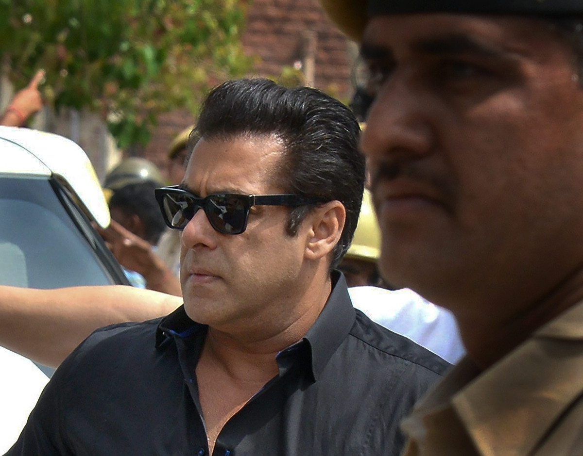 Jodhpur: Bollywood actor Salman Khan at the court.