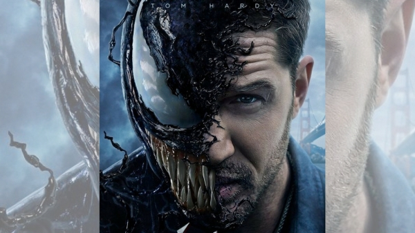Tom Hardy in and as <i>Venom</i>.