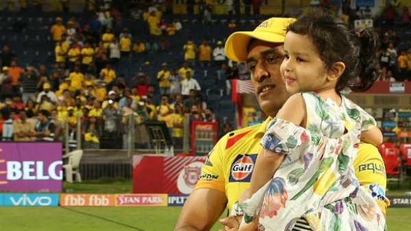 Little Ziva and MSD shared some playful moments after CSK beat the Kings XI Punjab by 5 wickets