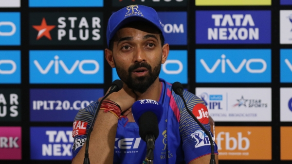 Ajinkya Rahane speaks to the media after Rajasthan Royals lost to Kolkata Knight Riders in the Eliminator match on Wednesday.