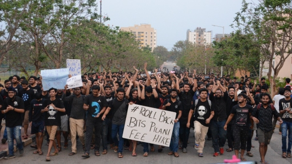 Students at BITS Pilani have been protesting for the fee-hike to be rolled back.
