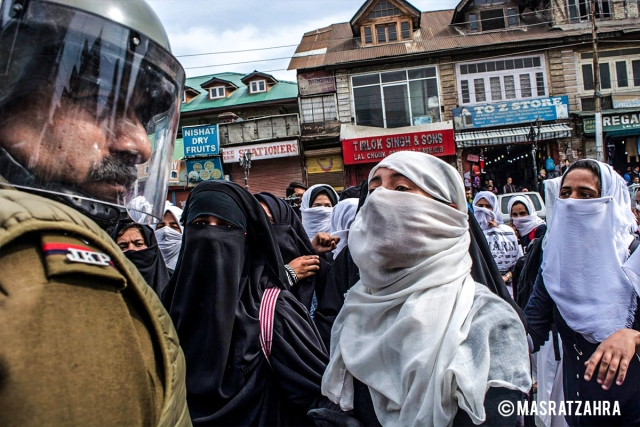 From students' protest of 5 April 2018 in Srinagar.