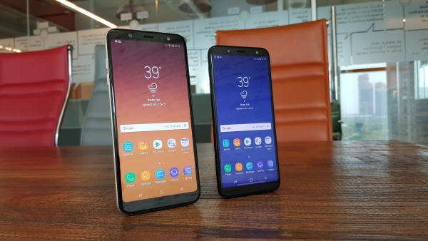 The Samsung A6+ (left) and J6 (right)