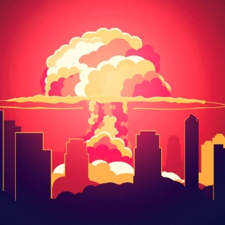 Stylised nuclear explosion. Image used for representational purposes only.