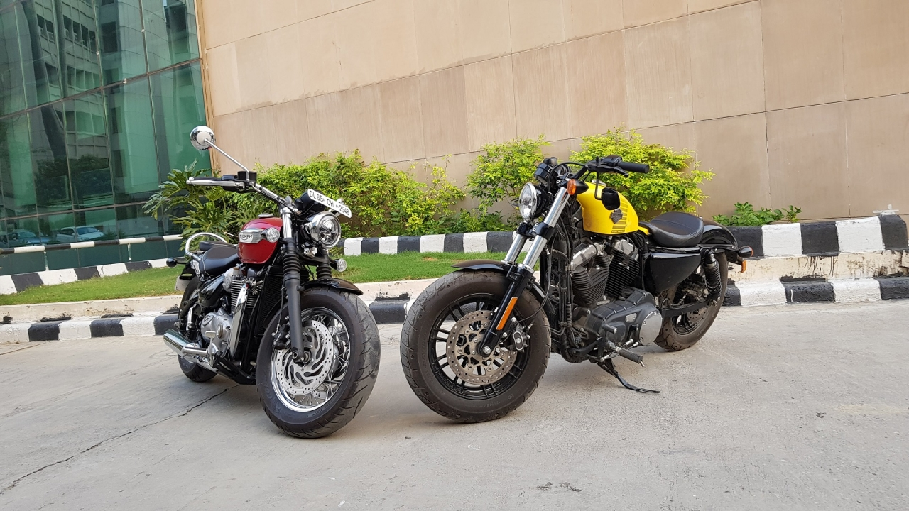 Harley-Davidson Forty Eight and Triumph Speedmaster Go Cruising