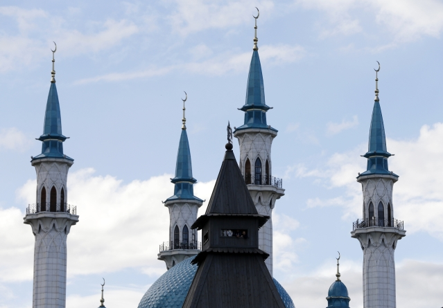 The mosque behind the walls of the historic Kazan Kremlin is one of Kazan's symbols of diversity.
