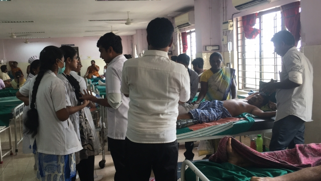 Doctors worked round the clock to attend to patients at the Tuticorin Government Medical Hospital.
