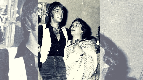Sanjay with his mother Nargis Dutt.