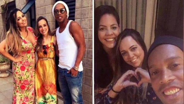 Ronaldinho has been living with both of his fiancees since December in Rio