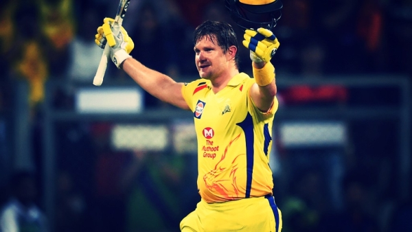 Shane Watson celebrates after scoring a century against Sunrisers Hyderabad in the IPL final in Mumbai on Sunday.