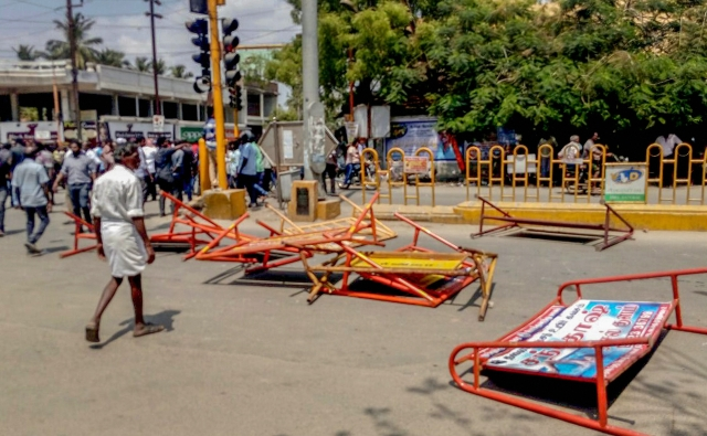 Barricades lie strewn after anti-Sterlite protests kill 11 and injure a dozen others.