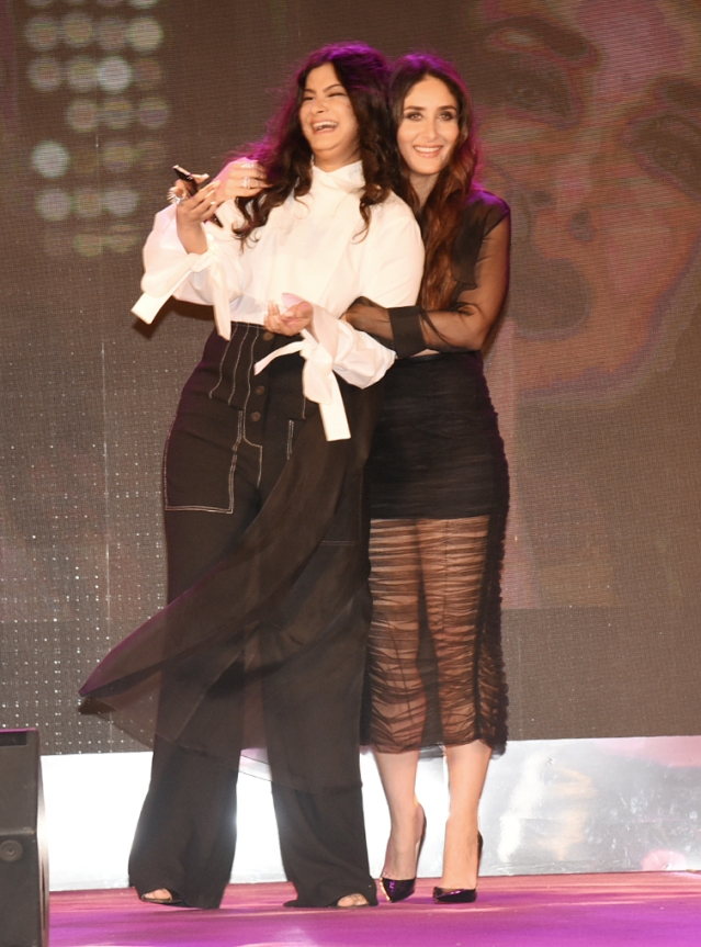 Rhea Kapoor and Kareena Kapoor share a light moment.