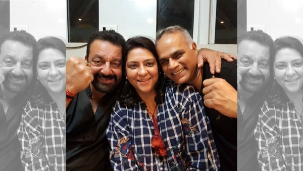 Sanjay Dutt with sister Priya Dutt and her husband Owen Roncon.
