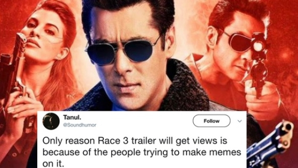 Following the release of the Race 3 trailer, Twitterati had a laugh riot.