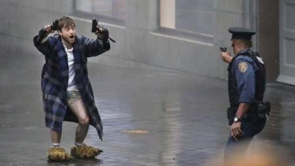 Daniel Radcliffe is currently working on<i> Guns Akimbo</i>