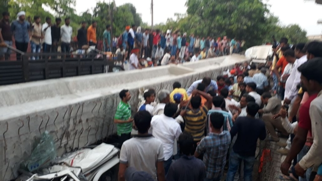 An under construction flyover collapsed in the Cantt area of Varanasi.