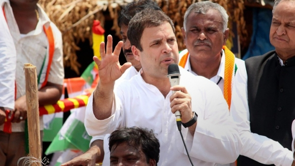 Congress president Rahul Gandhi on the campaign trail in Karnataka.