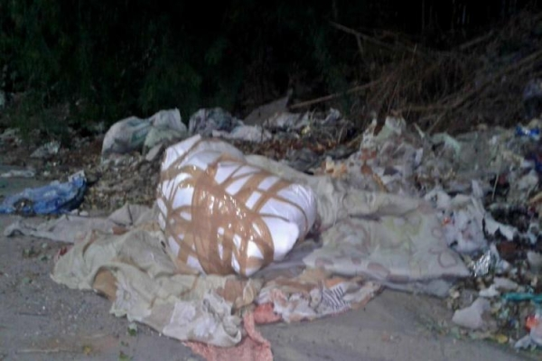 The body of 30-year-old Zeba was found in a plastic bag sealed with brown tape near Dabeerpura railway station in Hyderabad.